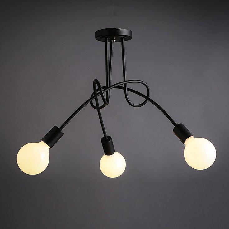 Vintage Pendant Light Black Iron Chandelier Lighting Kitchen Island Ceiling Lamp in Home & Garden, Lighting, Fans, Pendant Lighting   eBay!