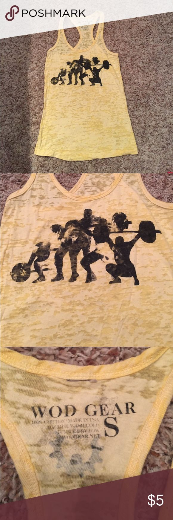 WOD Gear Snatch Tank- Size Small Super comfortable and breathable for Crossfit WODS. The design looks kinda faded in the picture but that is how it's supposed to look. Bundle with other workout gear I'm posting to save! wod gear Tops Tank Tops