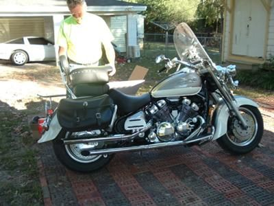 Before 1: I purchased a plain jane 98 1300 Yamaha Royal Star, it has old droopy leather bags, a windsheild that looked as if someone used a brillo pad on it, bald