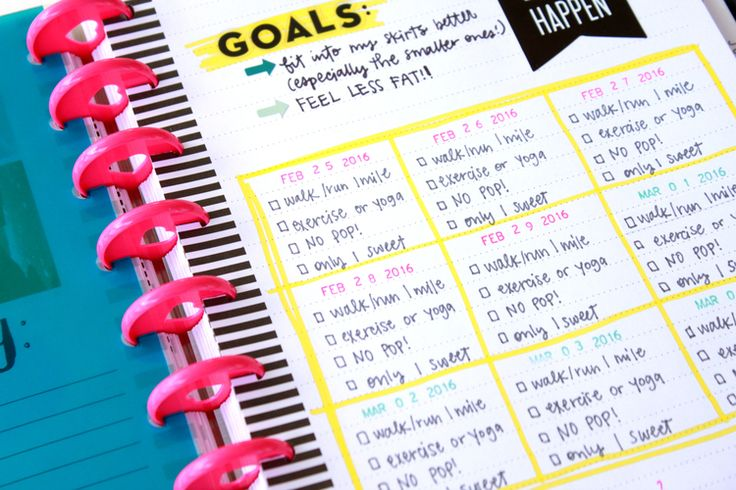 a DIY Fitness Planner in The Happy Planner™ of mambi Design Team member Heather Adams | me & my BIG ideas