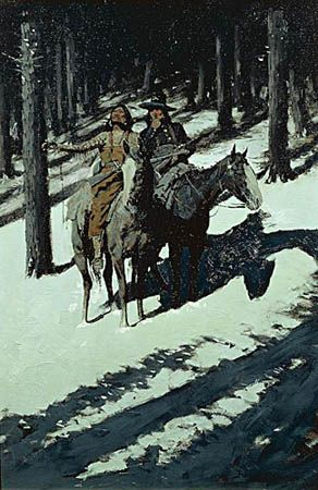 Frederic Remington, Indian Scouts in the Moonlight
