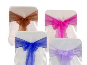 Organza Chair Sashes .67 each. Matching table runners available