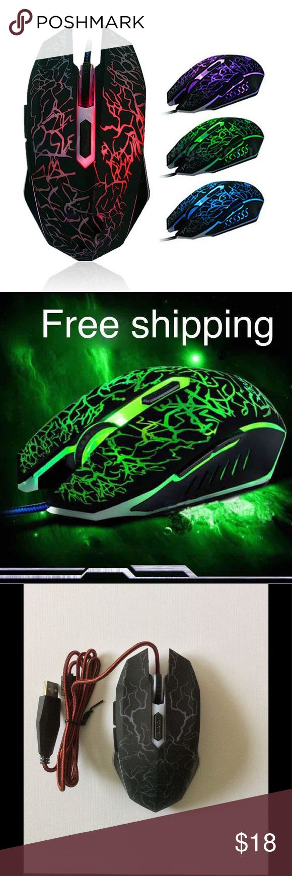 LED Backlight 4000 DPI Optical Gaming Mouse New 100% brand new and high quality. Buttons: 6 buttons with scroll wheel. Tracking systems: Optical. The Max DPI: 4000DPI. Adjustable DPI Switch: 1200/2500/3200DPI/4000DPI. Ultra-precise Scroll Wheel. Optical technology works on most surfaces.Ergonomically designed, long-term use without fatigue. Intelligent connectivity, no need to code, plug & play.  Compatible for Windows XP, for Vista, for Windows 7, for ME, 2000 and for Mac OS...or latest…