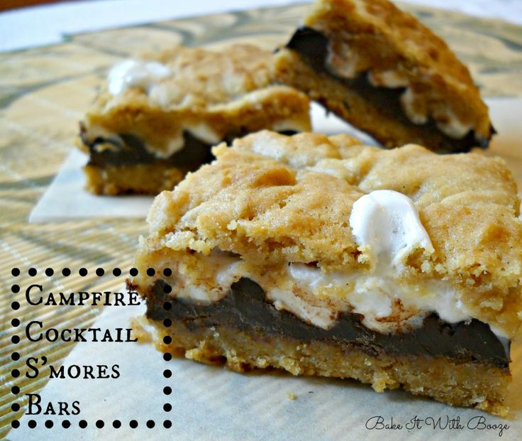 Bake It With Booze!: Campfire Cocktail S'mores Bars