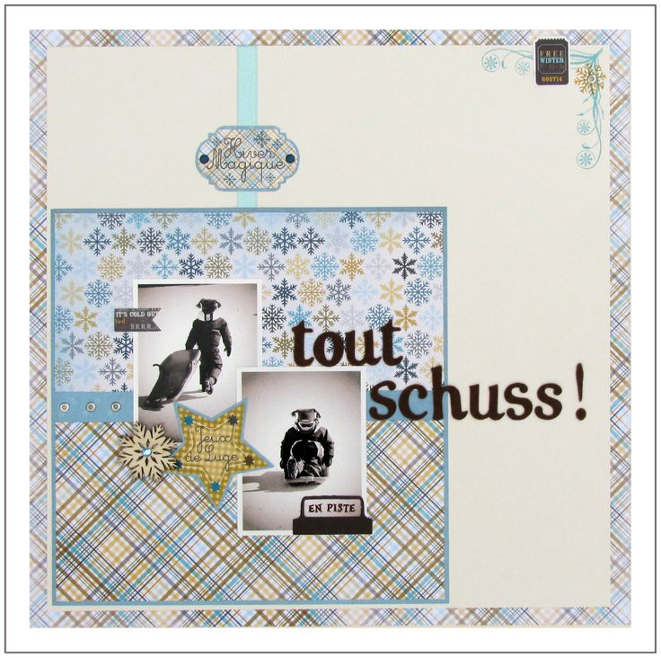 Toga collection jeux d 39 hiver scrapbooking hiver page for Idee de creation
