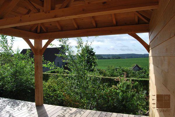 en bois à été réalisée en Brabant Wallon par COTE TERRASSE ET