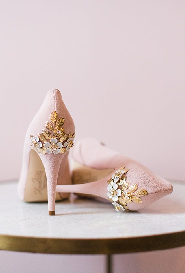 1ac10af52fa1 Joanie Blossom Blush Suede Embellished Heel Platform Courts by Harriet  Wilde - Beautifully handcrafted in the