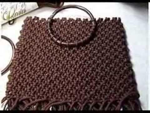 Изготовление сумки в технике макраме