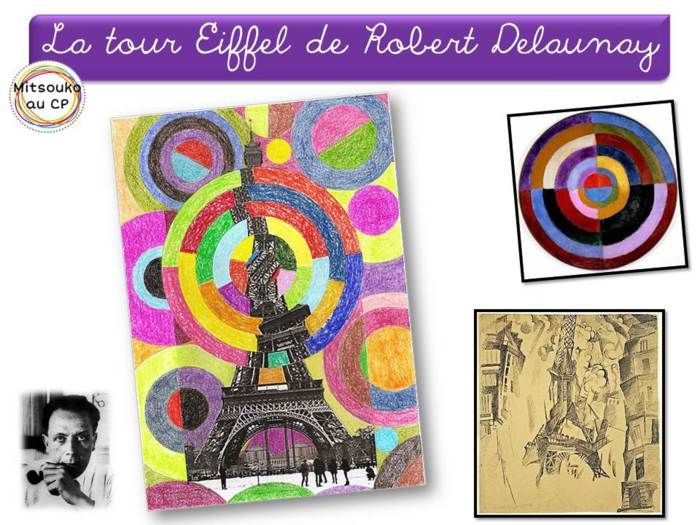 Vertigineuse tour Eiffel de Robert Delaunay la production (au centre) rend super bien