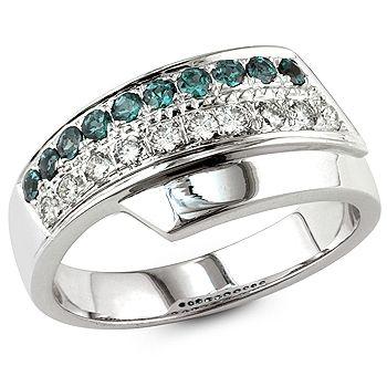 Nicolette - Alexandrita e branco anel de diamantes.