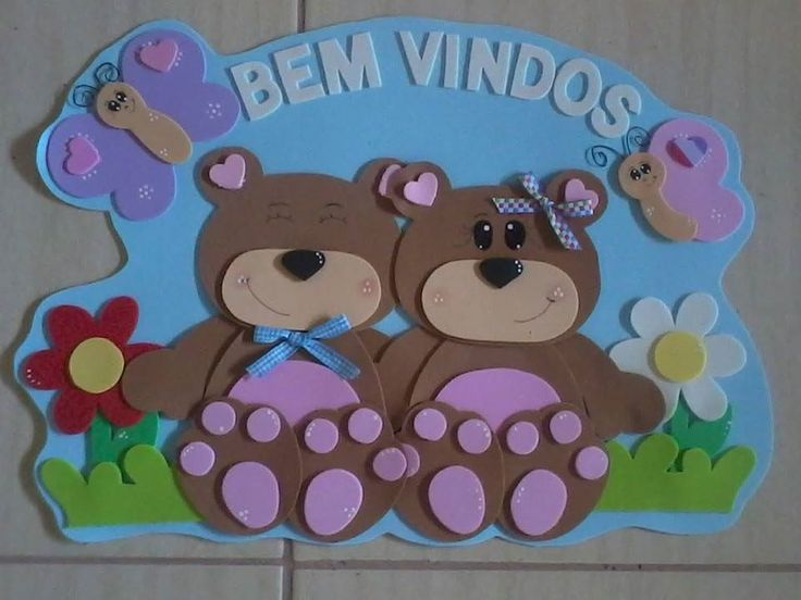 Um kit lindo com o tema ursinhos para decorar a sala de aula e deixar tudo muito colorido...  Pode ser feito em outros temas consulte a disponibilidade