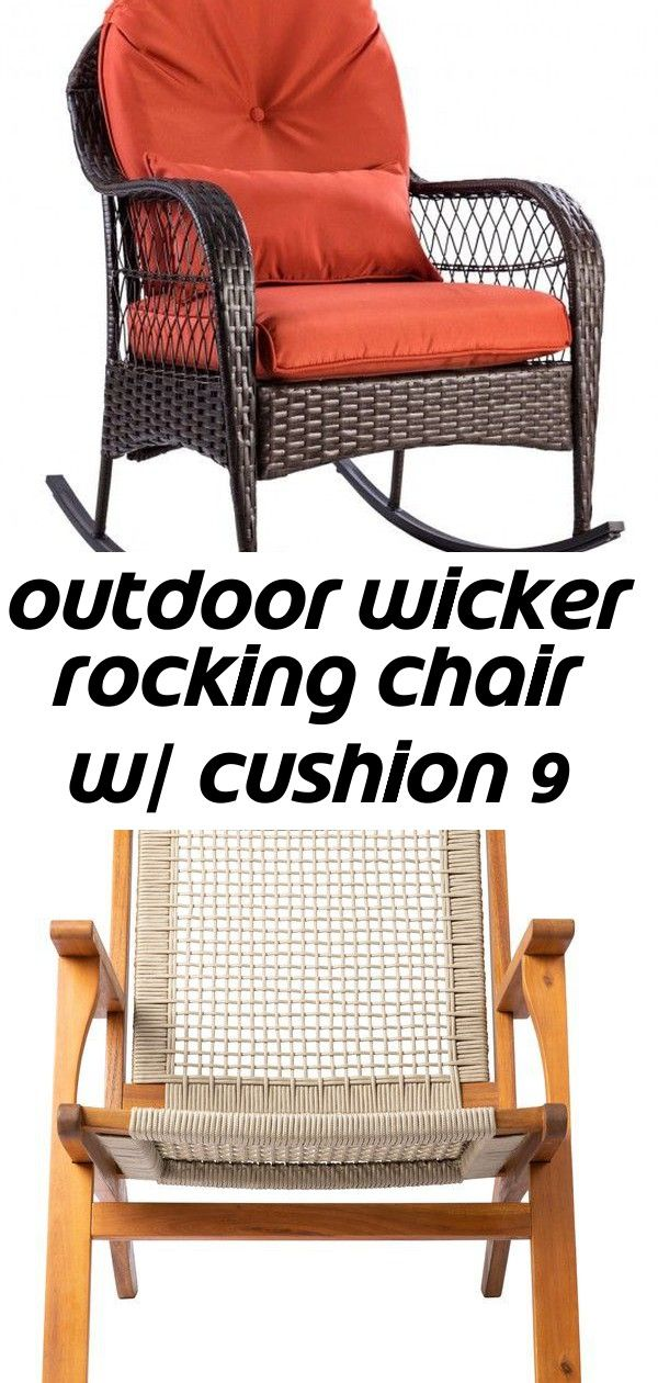Outdoor Wicker Rocking Chair W Cushion Patiosense Vega Armchair Wayfair Ecosmart Wicker Rocking Chair Outdoor Wicker Rocking Chairs Rocking Chair Cushions