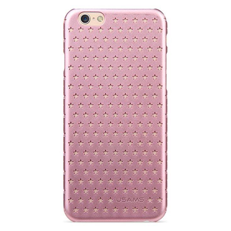 Kryt USAMS pro iPhone 6 s hvězdičkami růžový #AllCases.cz #kryt #case #sleva #iphone #iphone6