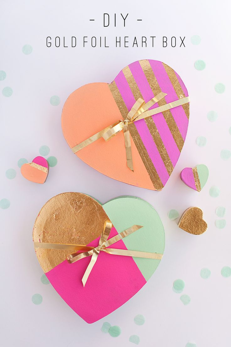 tell love and chocolate: TELL: DIY GOLD FOIL HEART BOX