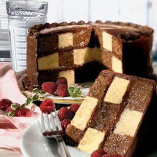 *Pastel ajedrez o checkerboard cake* Paso a paso