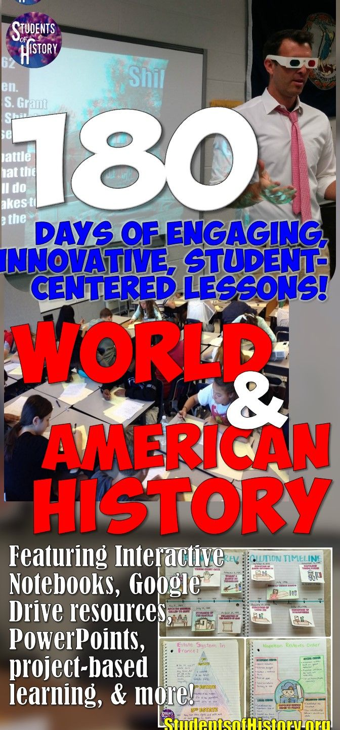 Activities for US History in middle school! So many great lesson plan ideas and resources for every day!