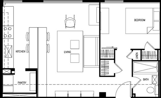 Free Tumbleweed Popomo Plans furthermore Seven High Rise Loft One Bedroom Floor Plans furthermore Houses With Blueprints likewise Small Space Floor Plans also Woodys pt 1. on tiny house village dallas