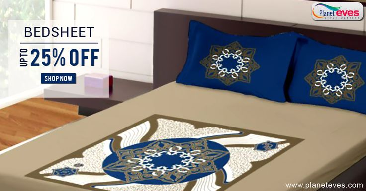 Buy Double #BedSheets Online in India Upto 25% OFF from Planeteves.com. Great Selections of Single and Double #Bed #Sheets with Cash on Delivery Available.