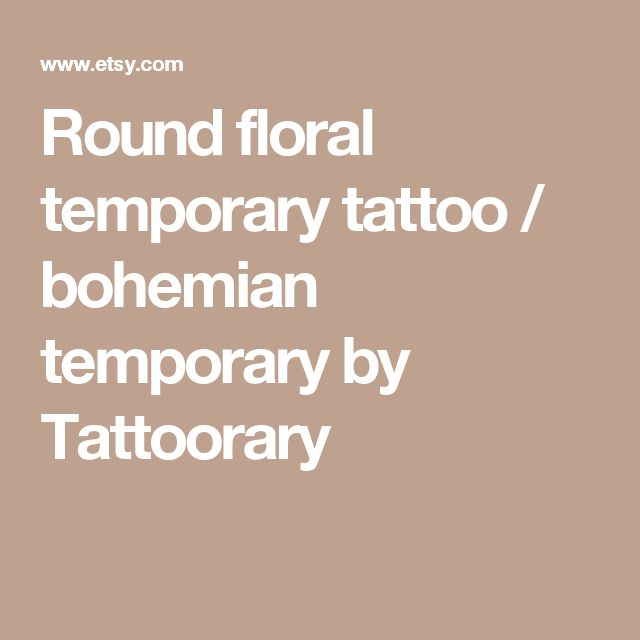 Round floral temporary tattoo / bohemian temporary by Tattoorary