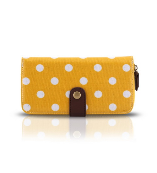 Cath Kidston Yellow Purse Polka Dots on glamouronthego.co.uk