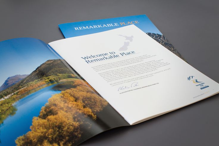 Design and print management for Remarkables Park company profile