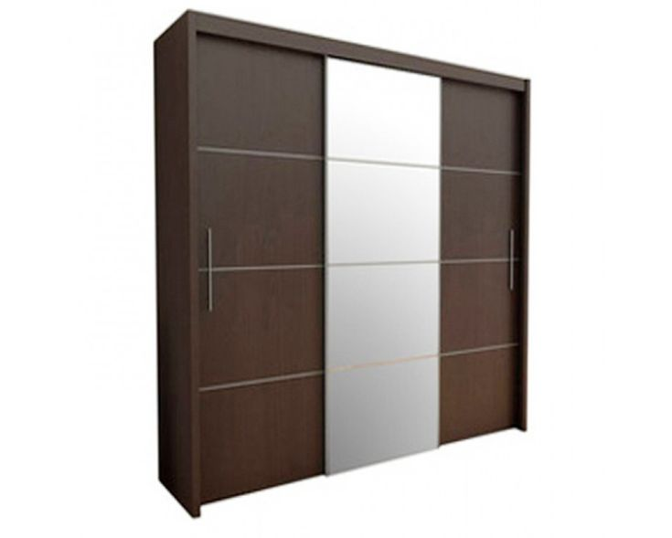 Stupendous wardrobe with the laminate finish made up of plywood. The color of the product makes anyone to buy it at the price available. According to today's trend, the sliding door mechanism adds a flavor modernized look.