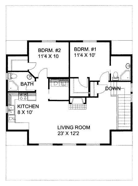 2 br floor plan house plans pinterest s tio for Www house plans com