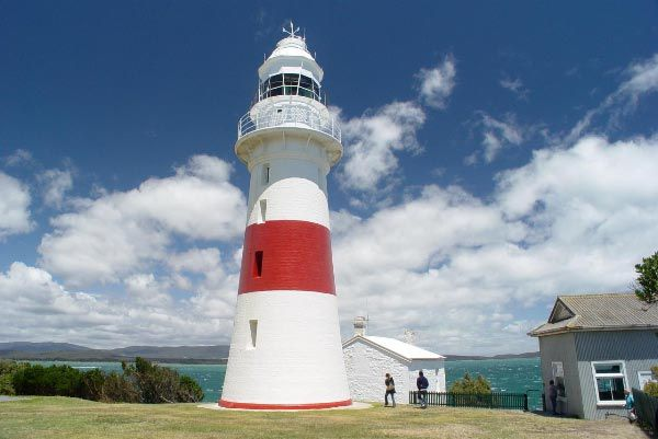 Lighthouse at Low Head near George Town in the northern Tamar Valley region. Article by Len Langan and photo by Dan Fellow for www.think-tasmania.com