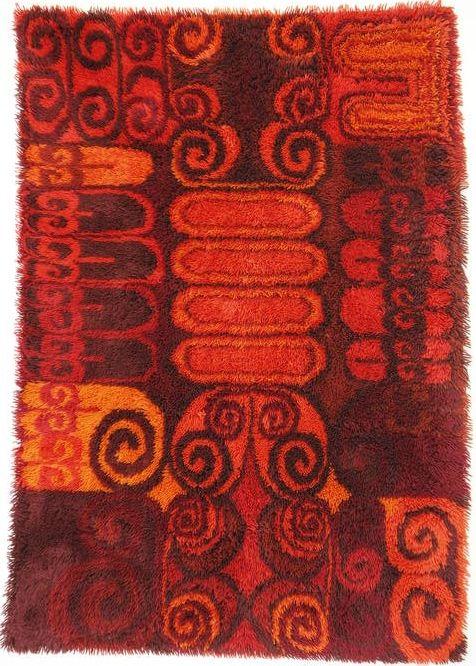 Leena-Kaisa Halme; Wool Rya Rug, 1960s.