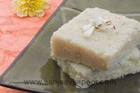 Coconut Burfi - Delicious burfi made with fresh coconut