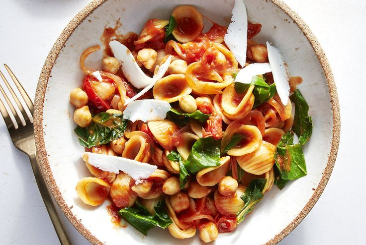 One-Pot Orecchiette With Swiss Chard and Tomatoes   Real Simple