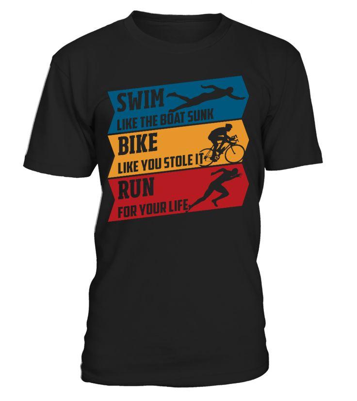 Swim - Bike - Run   #hoodie #ideas #image #photo #shirt #tshirt #sweatshirt #tee #gift #perfectgift #birthday #Christmas #yoga