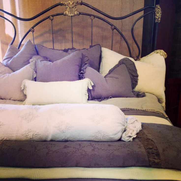 King bed fashioned from antique bellanotte linens at for One of a kind beds