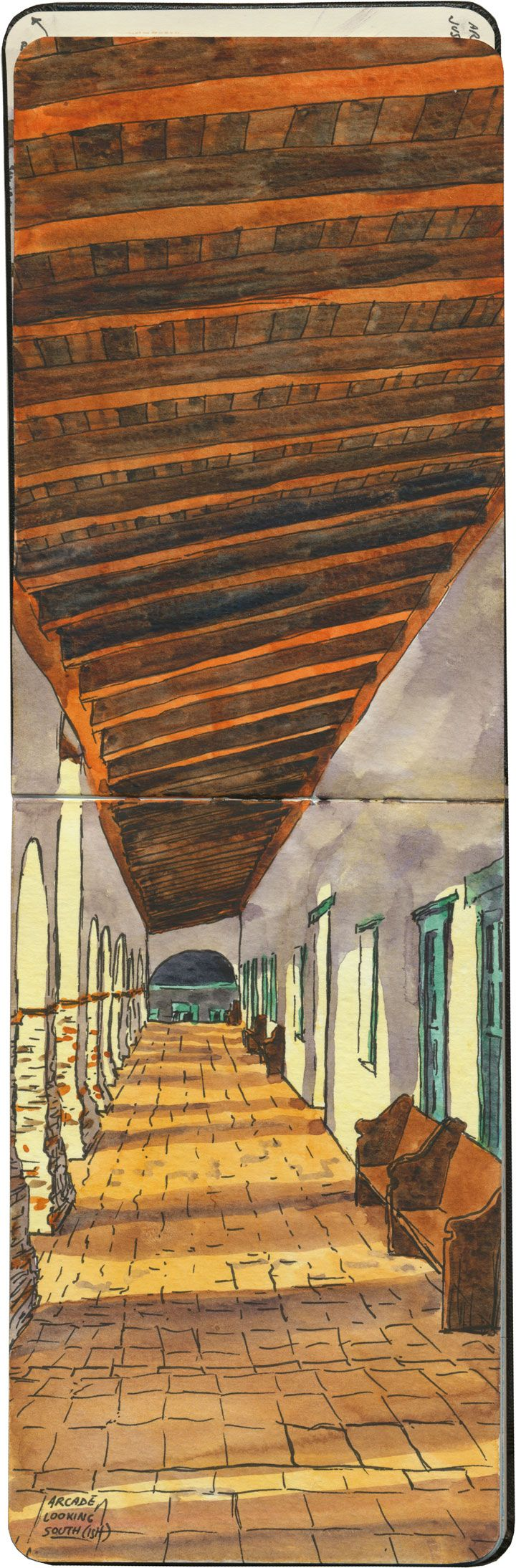 Drawn the Road Again: Inside the Travel Sketchbooks of Chandler OLeary as She Explores the U.S. watercolor travel illustration drawing