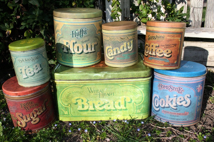 Vintage Ballonoff / Pentron Canisters and Bread Box