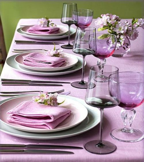 Radiant Orchid Tablescape Centerpiece www.tablescapesbydesign.com https://www.facebook.com/pages/Tablescapes-By-Design/129811416695