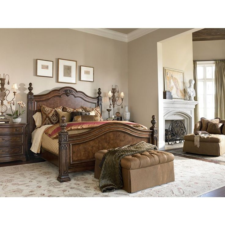 drexel bedroom set%0A Turn your home into a masterpiece with elegant Drexel Heritage furniture  like this Casa Vita bedroom  A luxurious bedroom provides a comfortable and