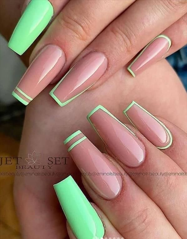 36 Awesome Spring Pastel Coffin Nails Design Art For 2021 Fashion Girl S Blog In 2021 Coffin Nails Designs Acrylic Nails Coffin Short Long Acrylic Nails Coffin