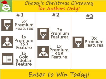 Choosy's Christmas Giveaway — for Authors Only  :o)