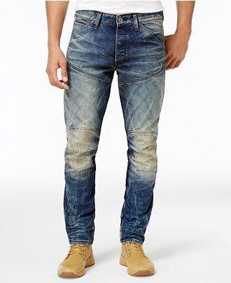 G-Star RAW Men's 3-D Tapered Jeans - Jeans - Men - Macy's