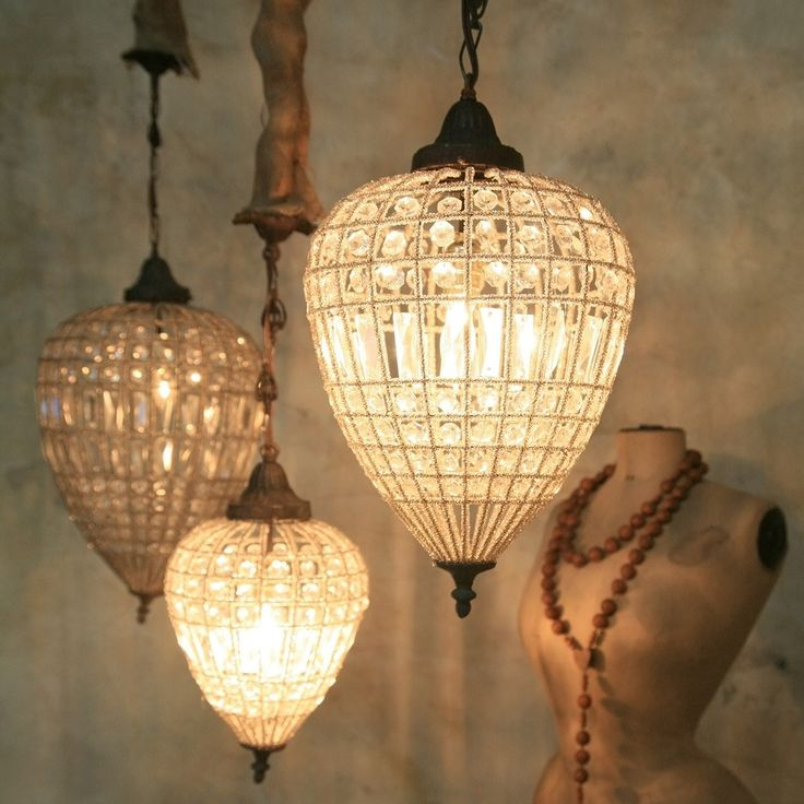 Lighting for the powder room . . . Eloquence Teardrop Chandelier at Layla Grayce.