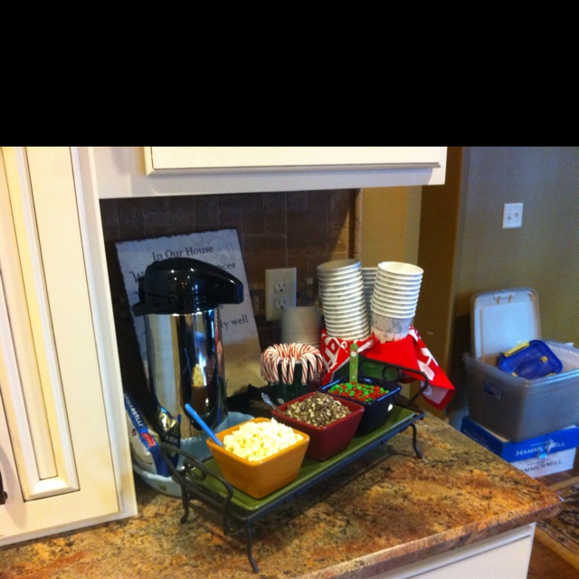 Hot chocolate station   Party Ideas   Pinterest ...