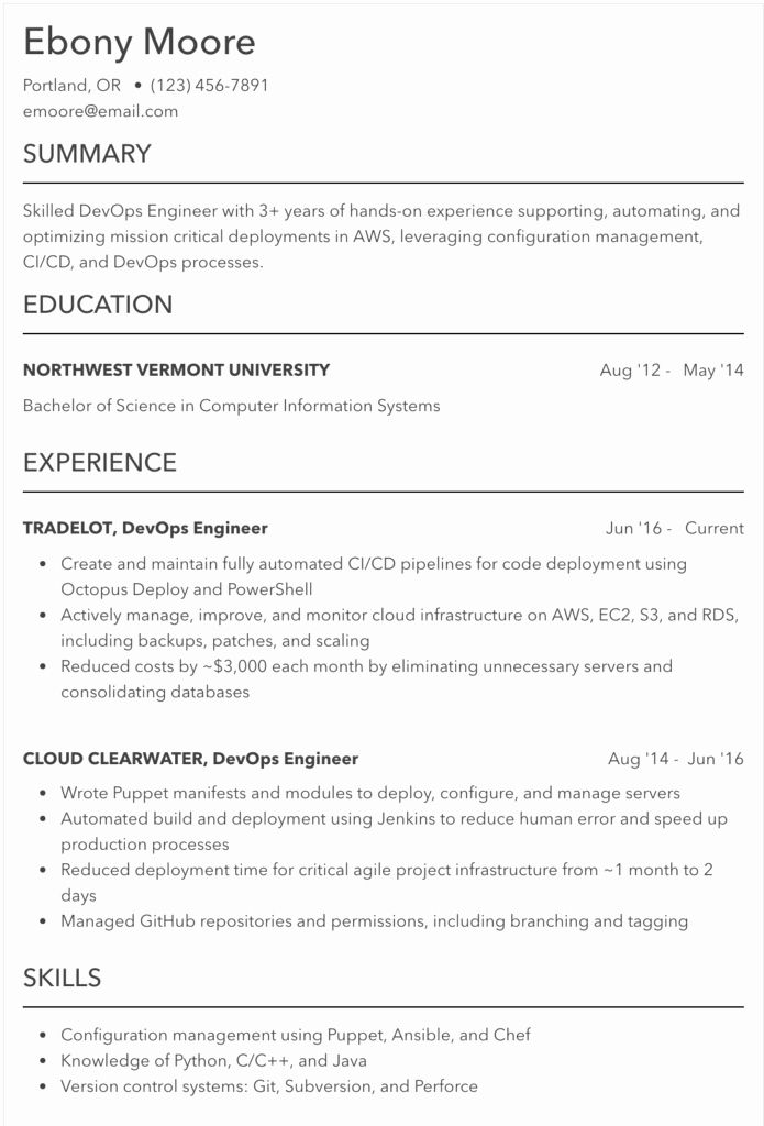 Data Center Technician Resume Best Of 10 Best Line Resume Builders 20 Examples