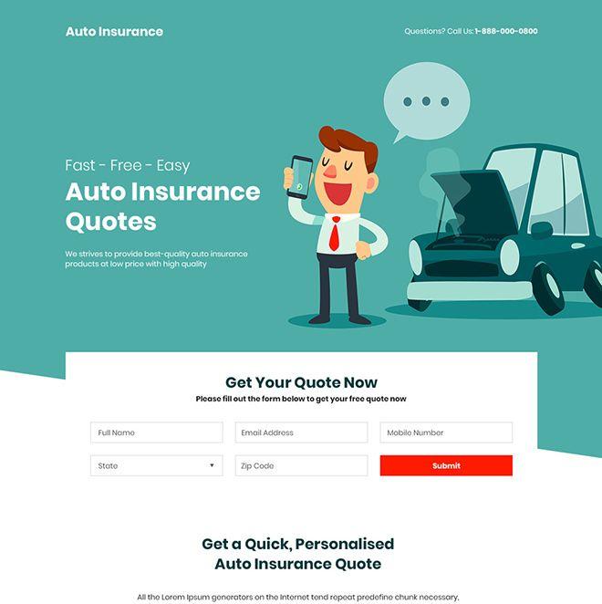 Pin On Auto Insurance Landing Page Design