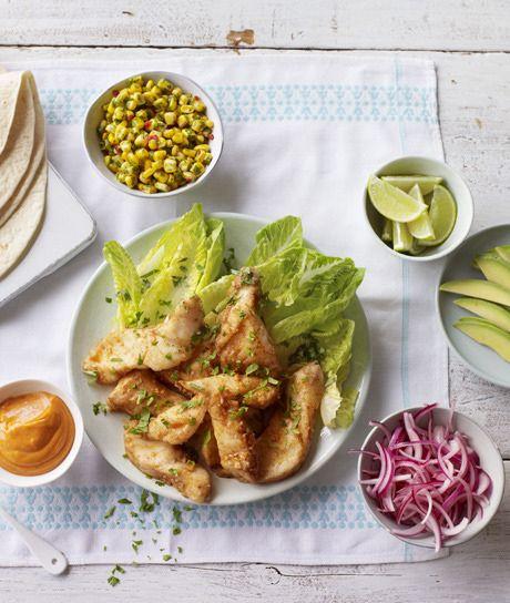 Nigella Lawson's easy and delicious fish tacos.