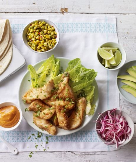 Nigella Lawson's easy and delicious fish tacos.