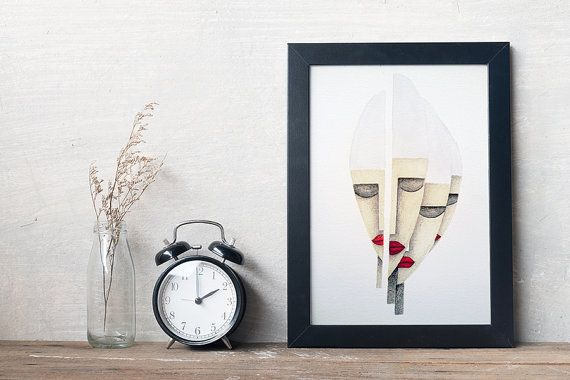 An original watercolor & graphite drawing of my ''Severance''.