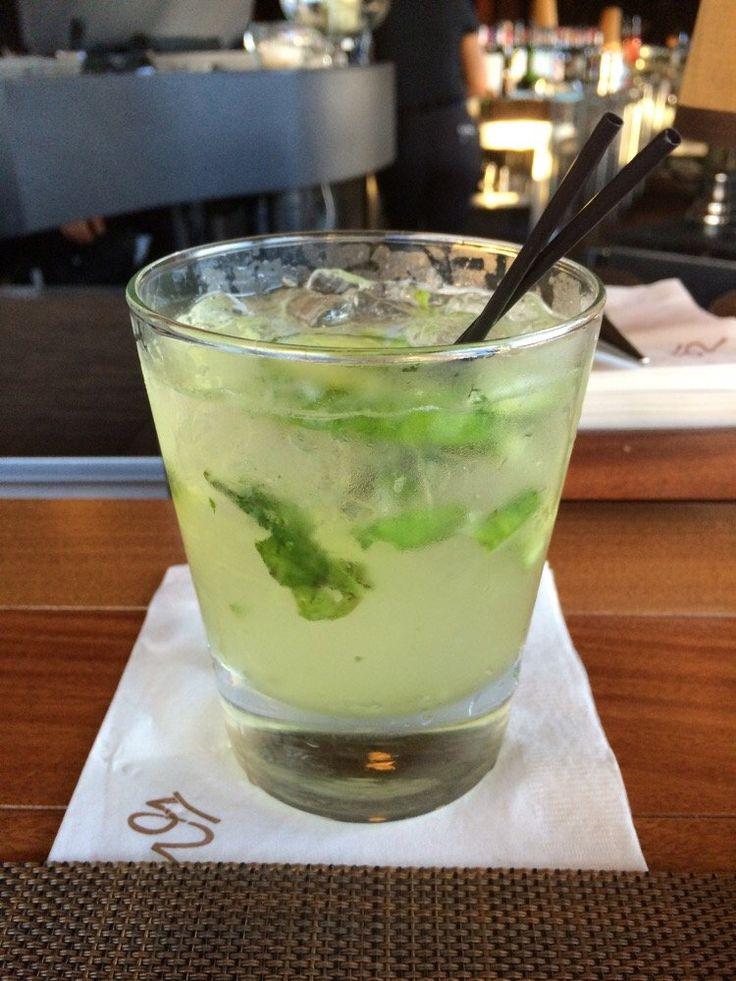 Seasons 52 - Cucumber basil smash. My sister's favorite drink.  CUCUMBER BASIL SMASH Prairie Organic Cucumber Vodka, White Cranberry Juice, Agave, Fresh Lime, Cucumber & Basil