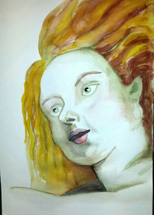 A kind of Rubens, by Ann-Jorunn Aune. Watercolor.