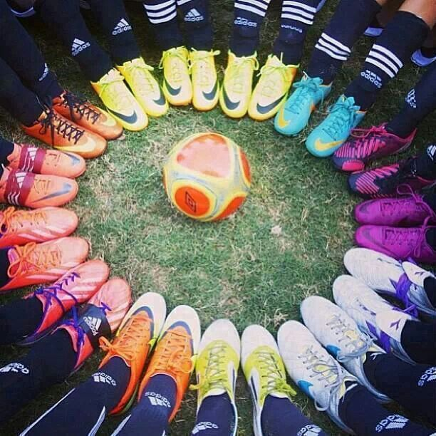 Creative team pic...Colorful Soccer cleats